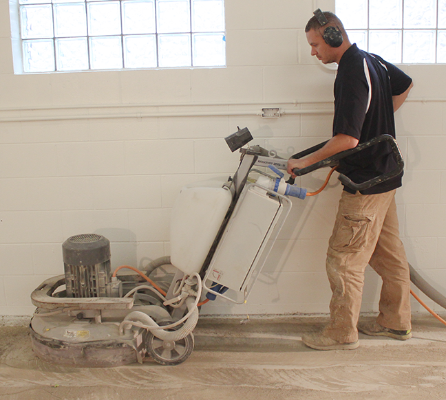 k and m coatings grinding concrete
